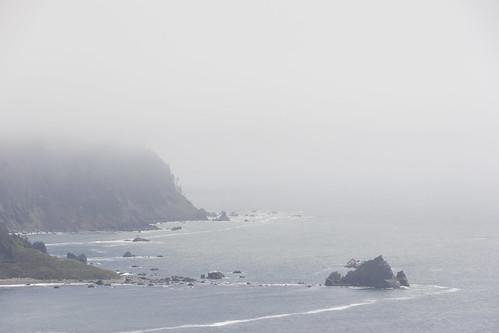 beach california fog klamath landscape landscapes mist northamerica usa unitedstates unitedstatesofamerica