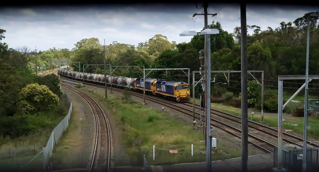 8170+8131 haul #2134 Berrima to Clyde cement through Casula, NSW
