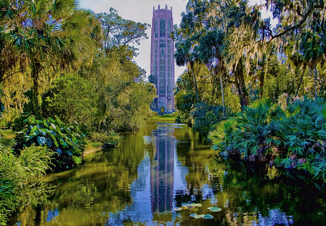 Bok Tower Gardens, 1151 Tower Boulevard, Lake Wales, Florida, USA / Architect: Milton B Medary /  Landscape Architect:  Frederick Law Olmsted Jr. / Completed: 1929 / Tower Architectural Style:  Gothic Revival and Art Deco