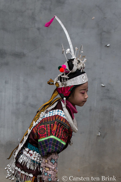 Miao girl on the move