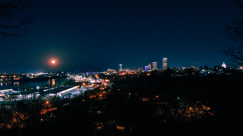night nikon nikkor1424mm d500 city moon wanderfar arkansas citylights outside nightphotography northlittlerock building statecapitol landscape littlerock 2019 downtown arkansasriver naturalstate