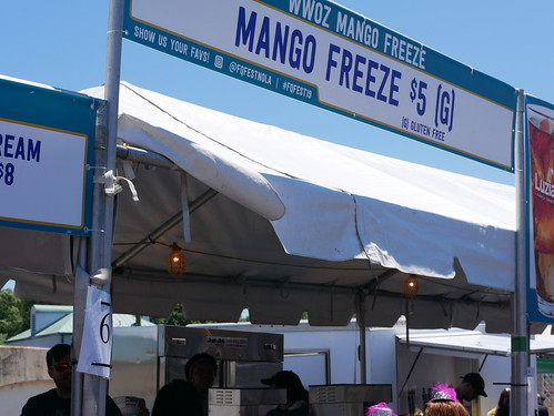 Mango Freeze booth at French Quarter Fest - 4.14.19. Photo by Louis Crispino.