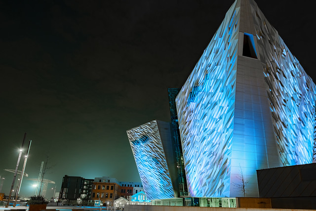 夜のタイタニック博物館