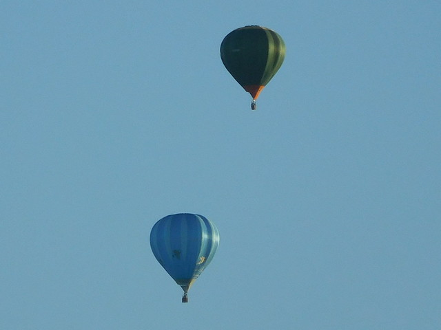 Two hot air balloons near Sancerre