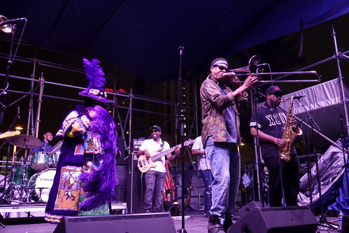Corey Henry & the Treme Funktet at French Quarter Fest - 4.13.19. Photo by Keith Hill.