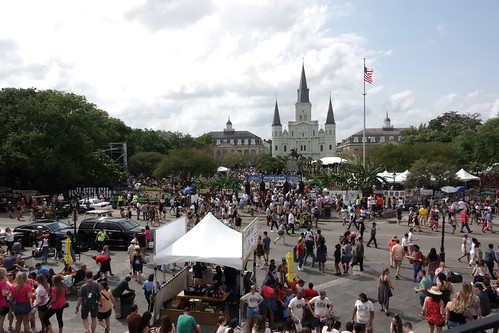 View from the river towards Jackson Square at French Quarter Fest - 4.13.19. Photo by Keith Hill.
