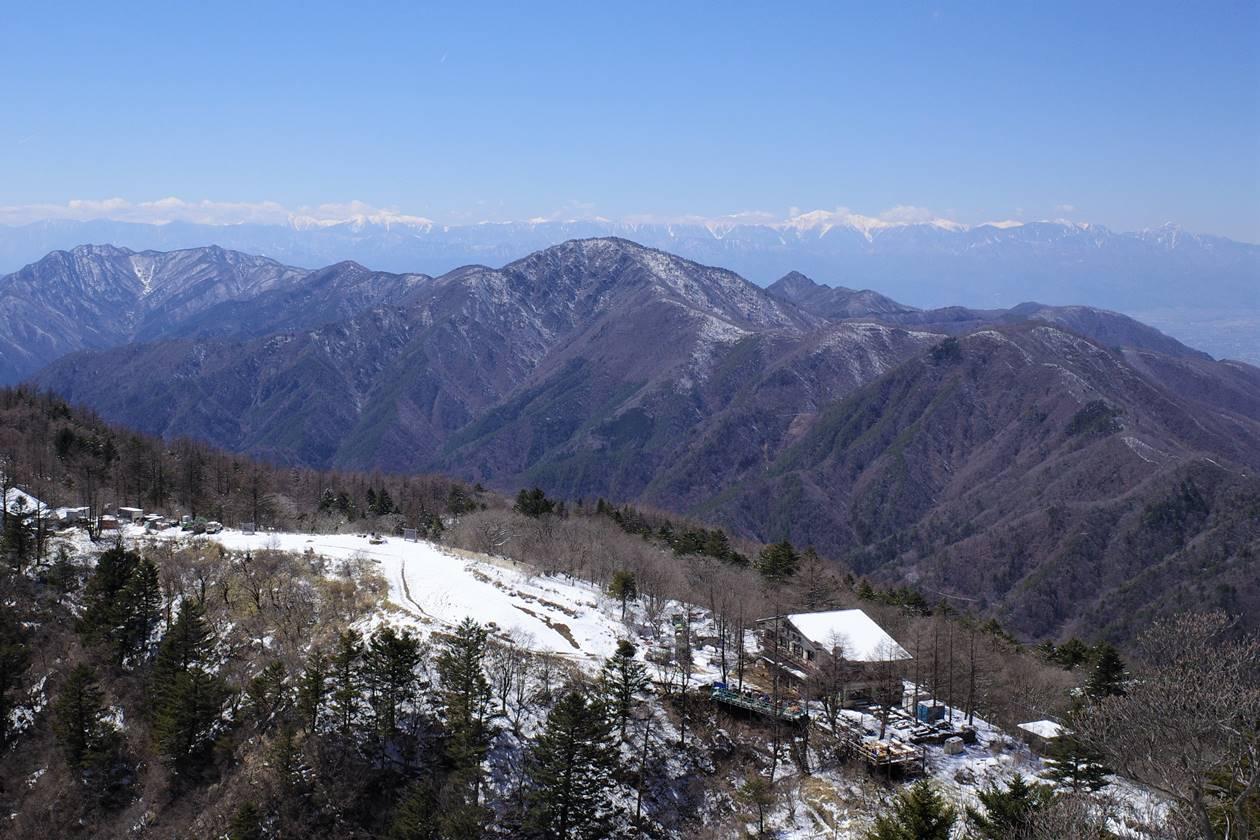 三ッ峠山からの南アルプスの展望