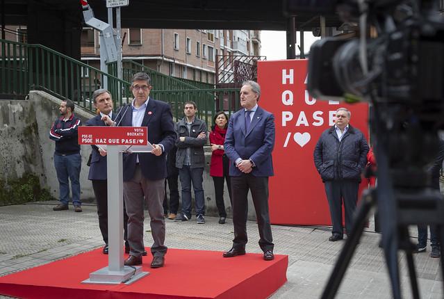 Acto político Patxi López, Alfonso Gil y Pedro Saura