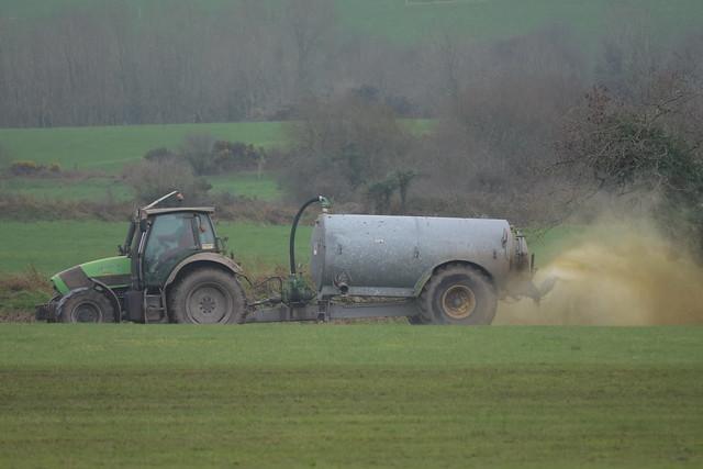 Deutz Fahr Agronton 120 Tractor with a Rossmore 2200 Vacuum Slurry Tanker