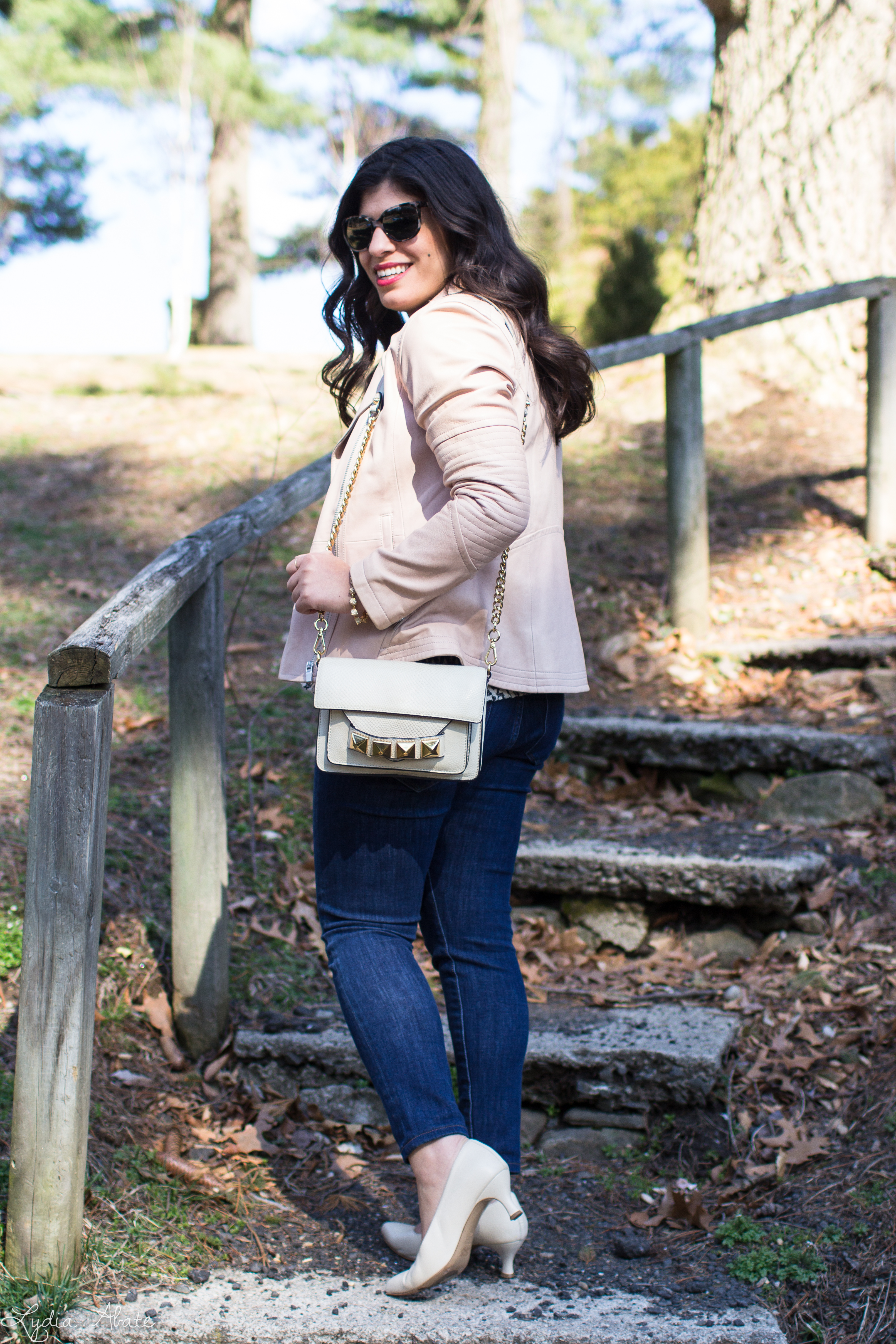 blush leather jacket, tribal print top, studded crossbody bag-10.jpg