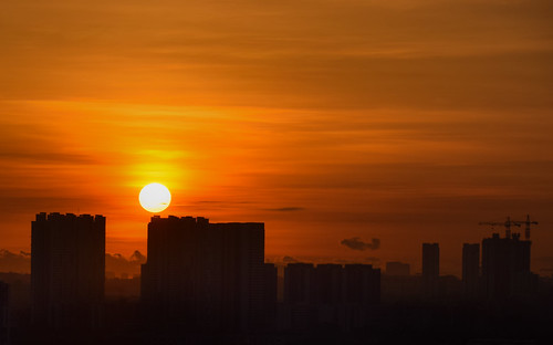 sunrise juronghill jurongeast singapore silhouette morningsky sun