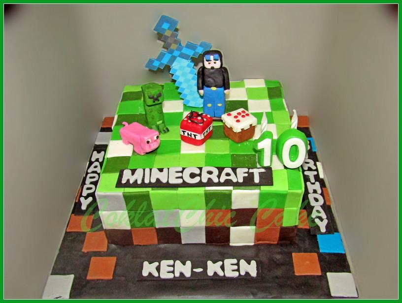 Cake Minecraft Ken ken 20 cm