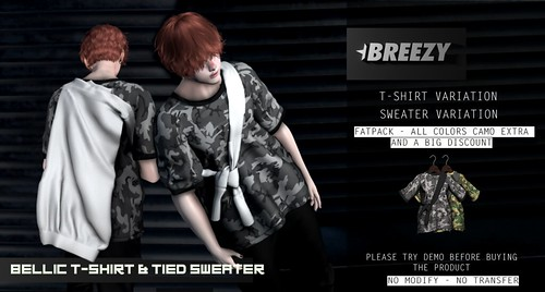 [BREEZY] Bellic T-Shirt & tied Sweater