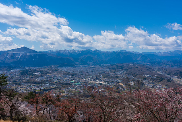 武甲山と奥秩父の山々@展望台