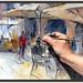 VIC-PINTURA-PLAÇA MAJOR-MERCAT DEL RAM-CAFETERIES-CAFETERIA-AUSA-QUADRES-LLUM-FOTOS-ARTISTA-PINTOR-ERNEST DESCALS