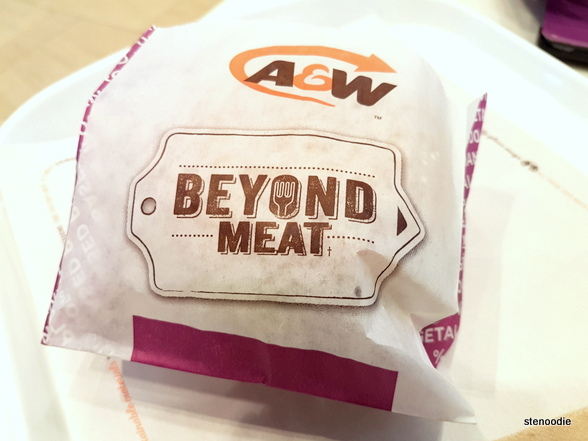Beyond Meat Burger at A&W