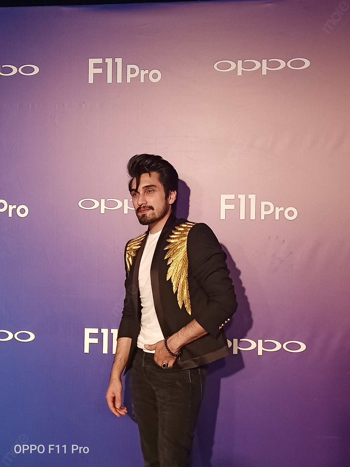 Uzair Jaswal at the Launch event of OPPO F11 Pro