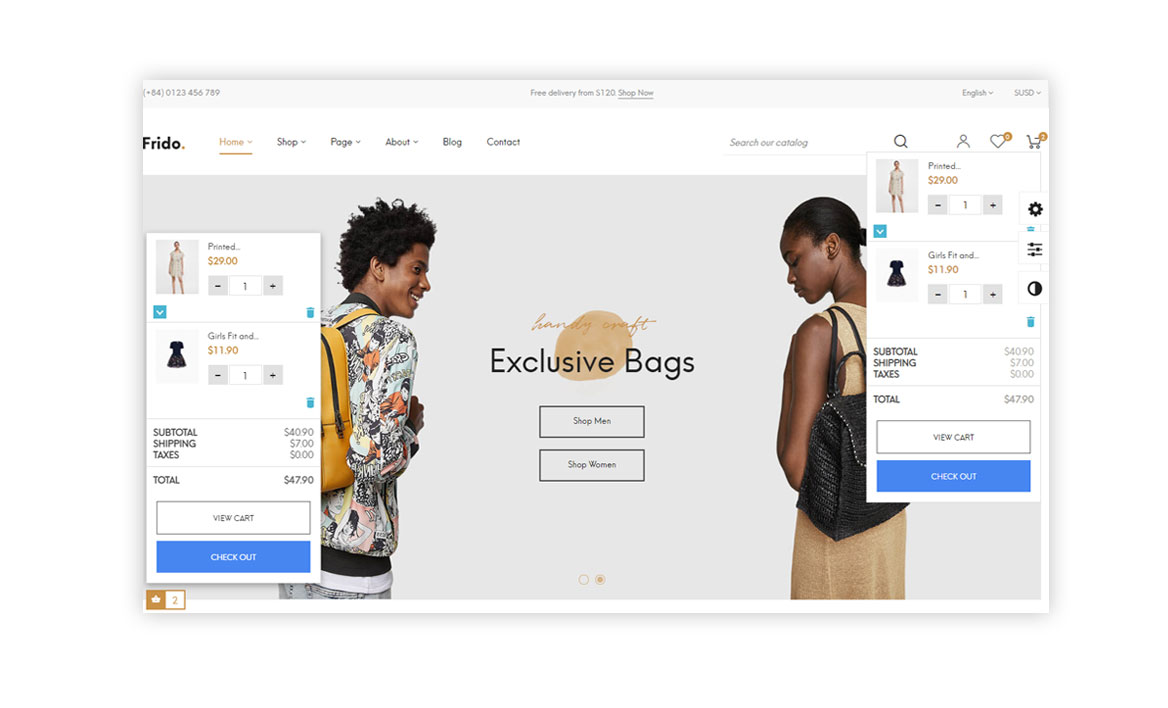flying-ajax-cart-frido-trendy-fashion-prestashop-theme
