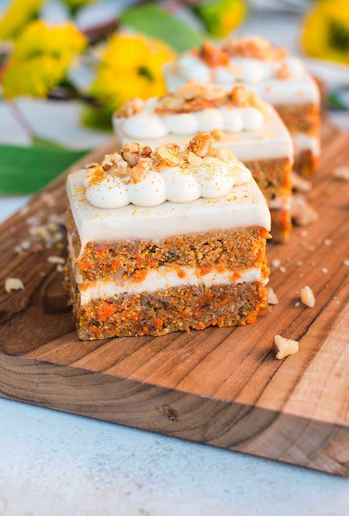 Carrot Cake Your Way with Cashew Cream Cheese Frosting