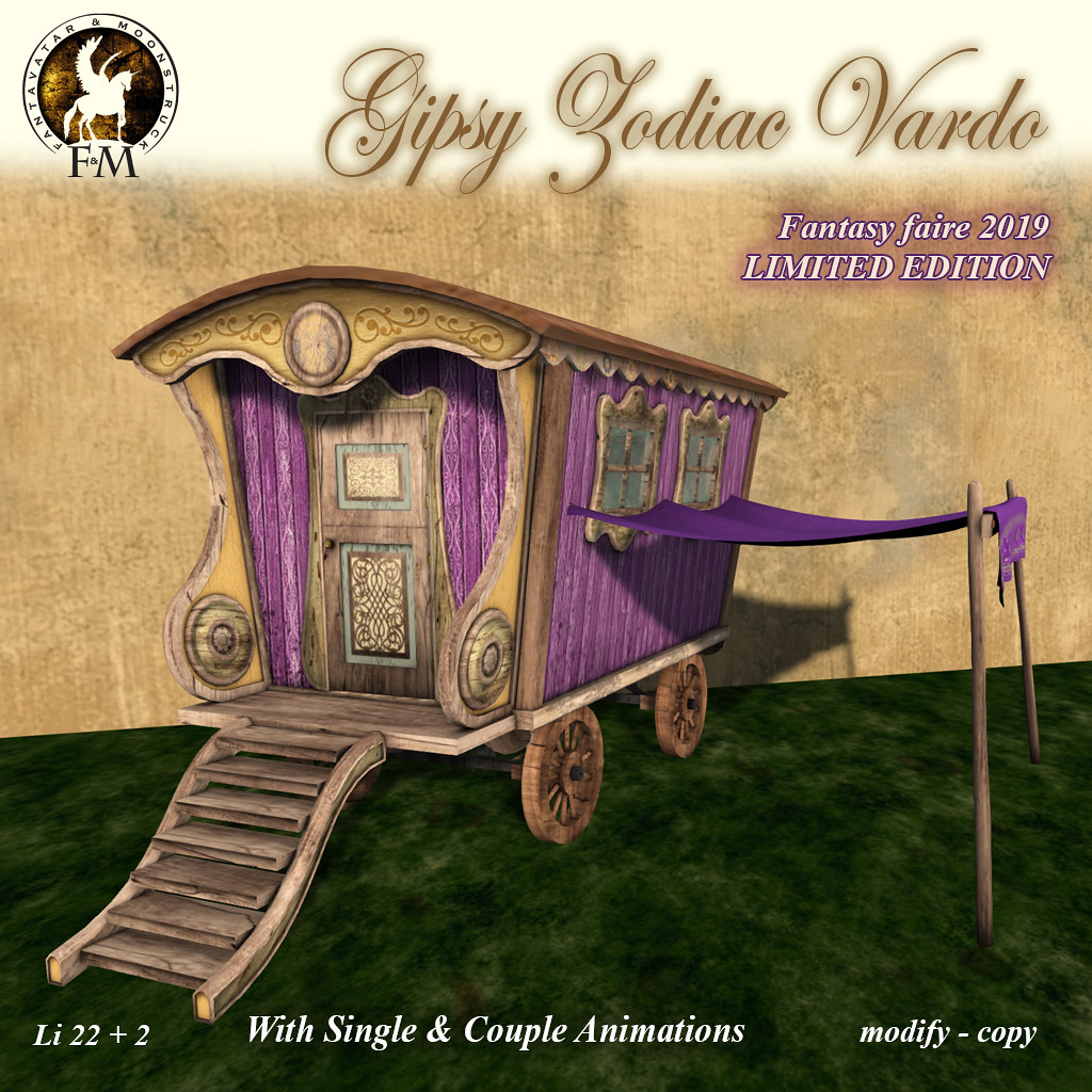 Fantasy Faire 2019 LIMITED EDITION – F&M * Gipsy Zodiac Vardo