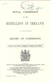 1916 Easter Rising Royal Commission Report