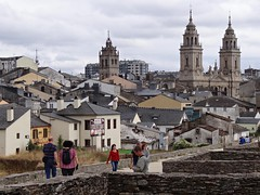 Lugo desde las Murallas. Galicia. España.