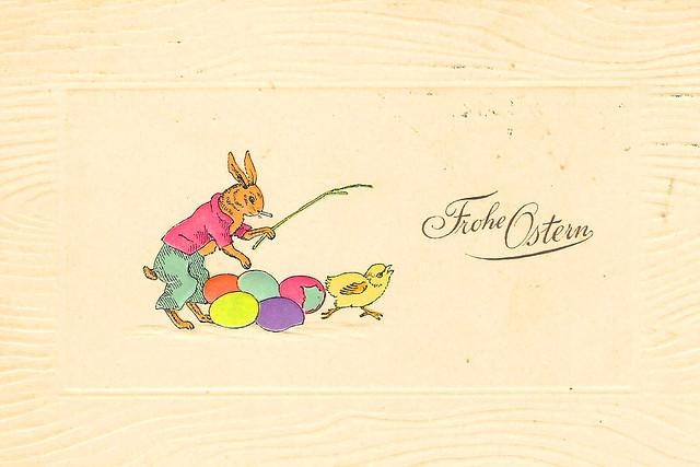 """""""Frohe Ostern"""", """"Fröhliche Ostern"""" - Post- und Ansichtskarten aus meiner Sammlung alter Karten (circa 1900 bis 1920)."""