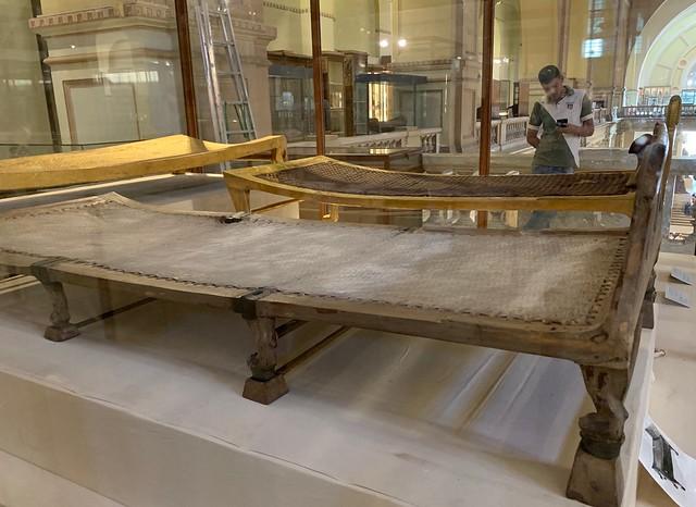 The Museum of Egyptian Antiquities, Cairo, Egypt : King Tutankhamun's beds, Eighteenth Dynasty, New Kingdom