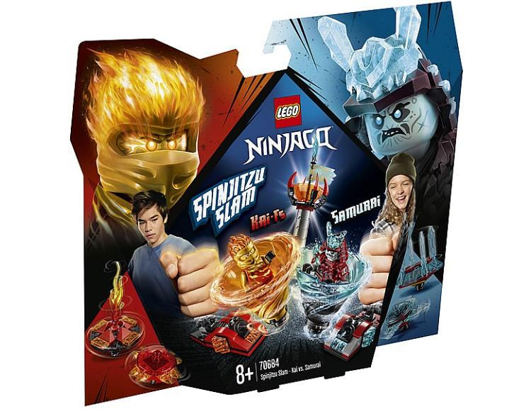 LEGO Ninjago Spinjitzu Slam Kai vs Eis Samurai 70684-01