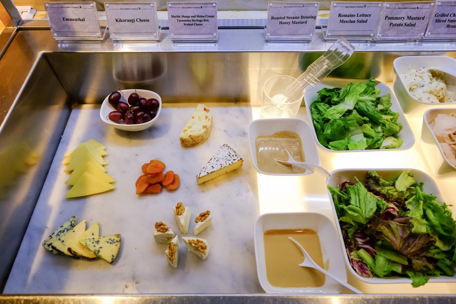 Cheese and salad bar