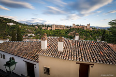 Roofs and the Alhambra (Long Exposure)