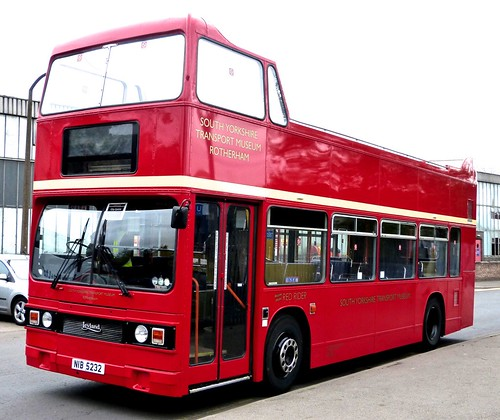 NIB 5232 'South Yorkshire Transport Museum' 'RED RIDER'. Leyland B15 Titan /1 on Dennis Basford's railsroadsrunways.blogspot.co.uk'
