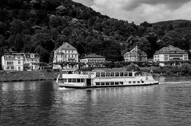 Traghetto sul fiume Neckar