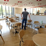 Inside the new cafe at The Range in Preston