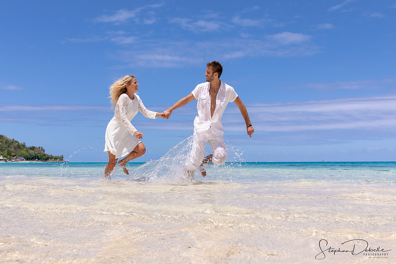 Lea & Kevin - Bora Bora Matira Beach