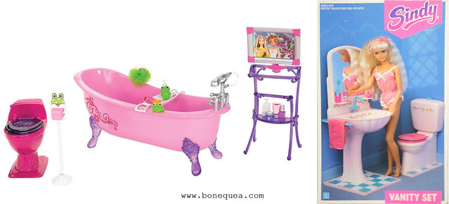 Barbie Glam bathroom furniture & Sindy Vanity Set