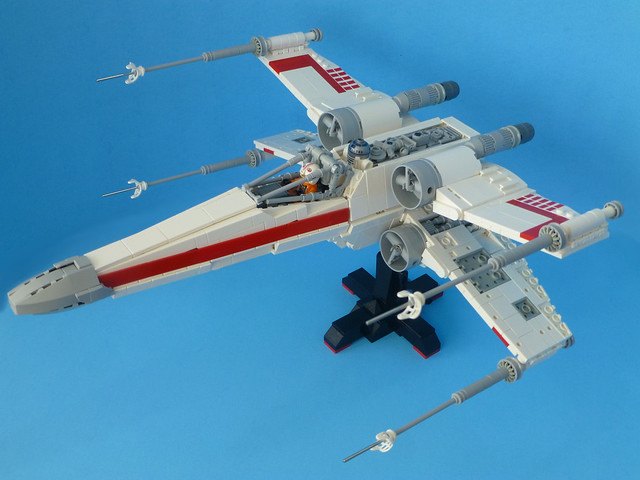 Lego X-Wing with stand