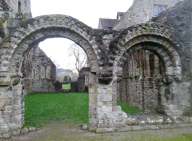 Part of Wenlock Priory, Much Wenlock, Shropshire