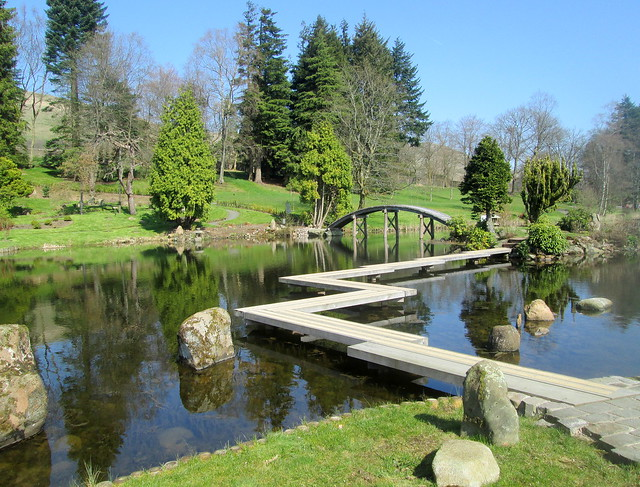 Japanese Garden , lake, Cowden, Scotland