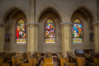 Stained Glass Windows at St. George Catholic Church