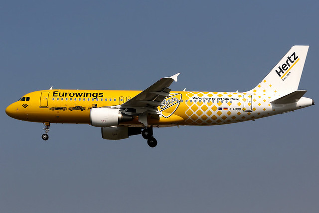 Eurowings   Airbus A320-200   D-ABDU   Hertz livery   London Heathrow