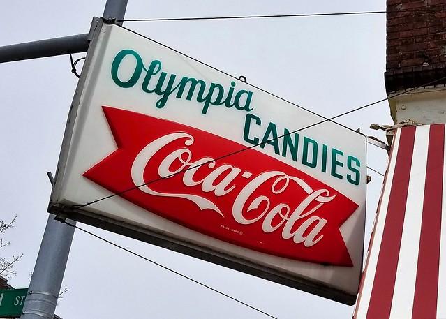 IN, Goshen-U.S. 33(Old) Olympia Candies Coca-Cola Sign