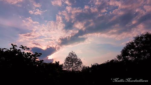 madhu madhumuraleedharan clouds sky sunset rain mobilephotography