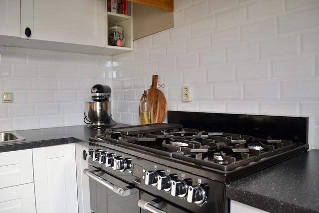 Landelijke keuken witte tegels