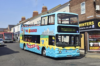 Stagecoach North East Walkergate Based 17645 W645RND Dennis Trident Alexander ALX400 Open-Top Branded The Seasider