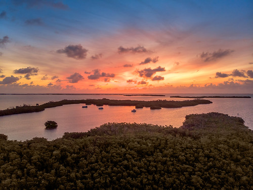 homestead florida unitedstatesofamerica keylargo mangroves sunrise floridakeys drone mavic air panoramic