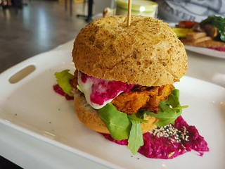 The Vegan Burger at Ginger & Rose