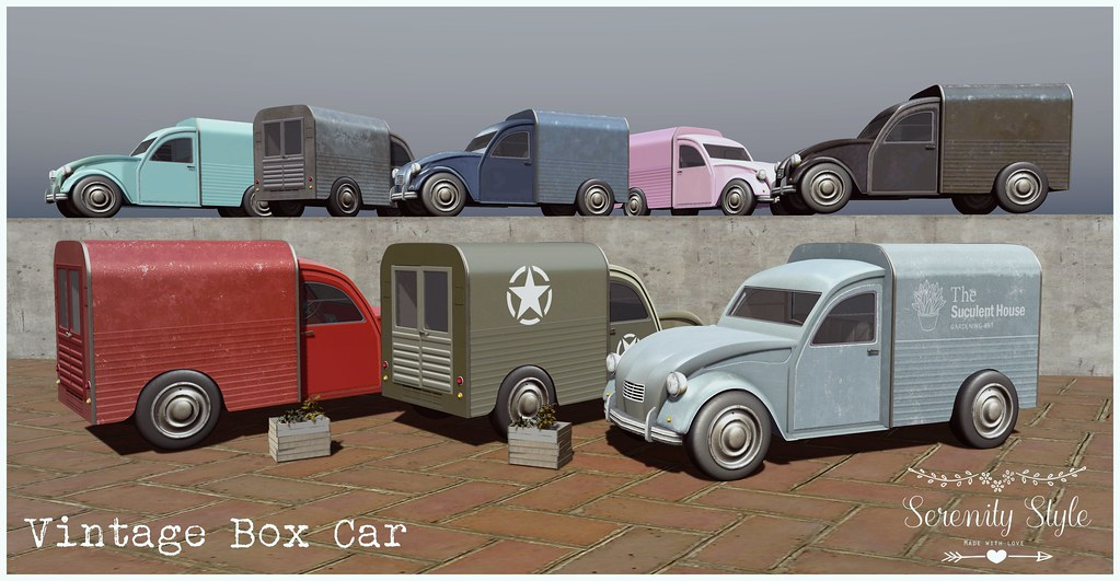 Serenity Style- Vintage Box Car Advert