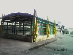 Entrance to Basarab subway station, Bucharest - lo fi with 3.15mpx camera of Login UA815C phone