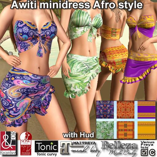 Awiti MiniDress Afro style with Hud
